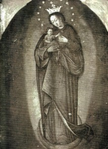Image of the Blessed Virgin Mary inside church