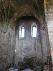 a destroyed side Altar