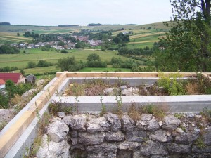 view of the countryside from the roof