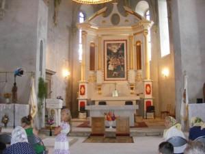 Newly built Altar, July 2016